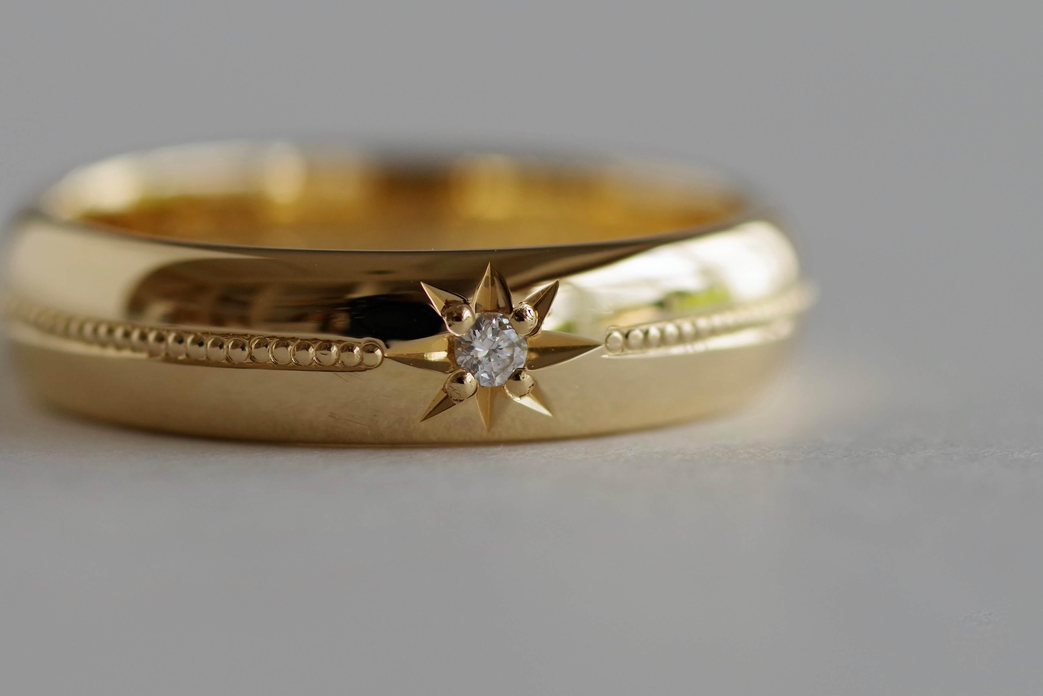 結婚指輪 オーダーメイド ミル打ち