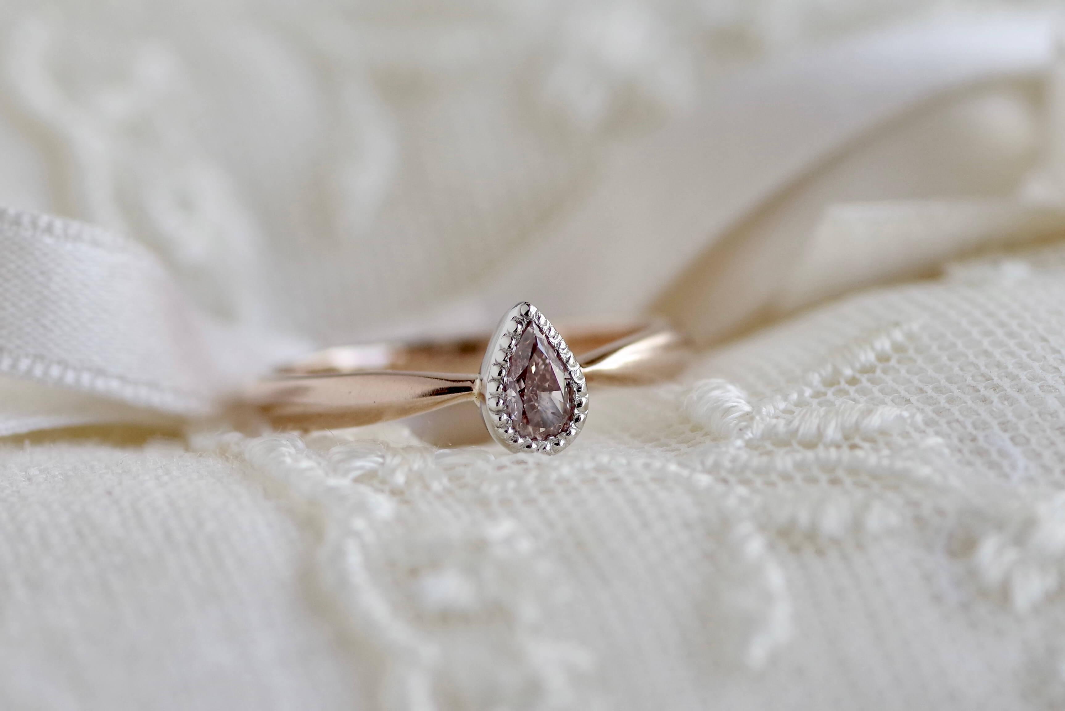 婚約指輪 オーダーメイド ピンクダイヤ