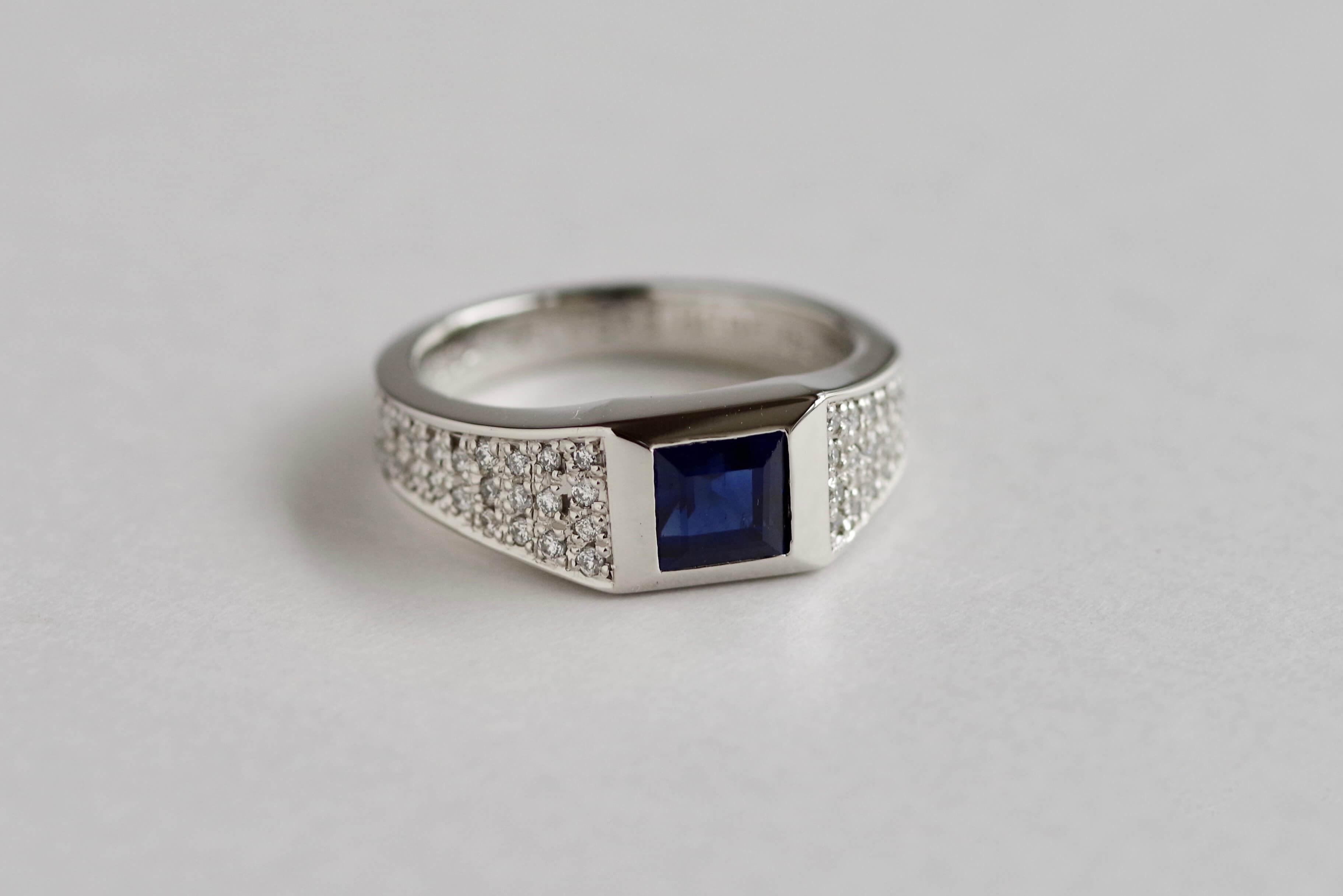 婚約指輪 オーダーメイド ブルーサファイア