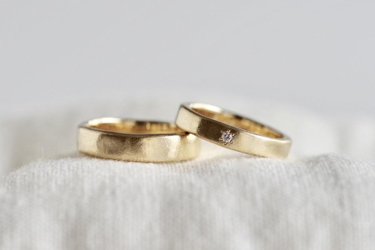 オリジナルマット加工の結婚指輪
